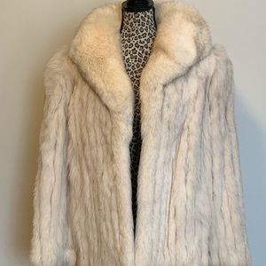 Luxurious Vintage Silver Fox Jacket
